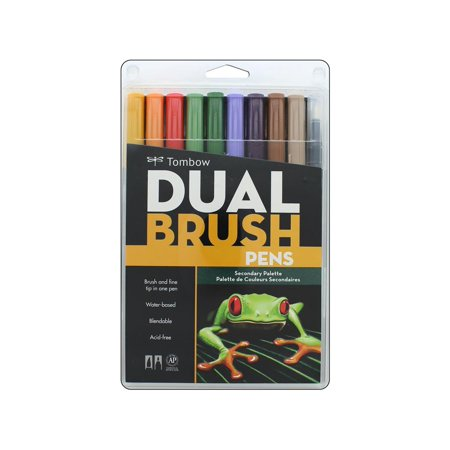 Tombow 10ct Dual Brush Pen Art Markers - Secondary