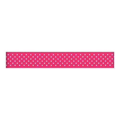 Grosgrain Swiss Dots Ribbon, Bright Pink