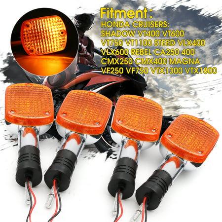 371469583936 2X Turn Signals Blinker Light For Honda Shadow VTX Steed Rebel Magna 250 400 750