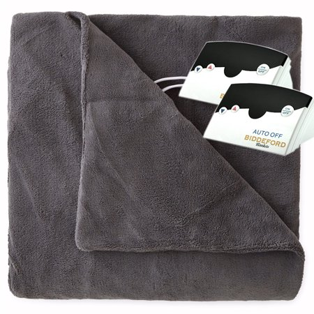 Luxurious MicroPlush Electric Heated Blanket by Pure Warmth