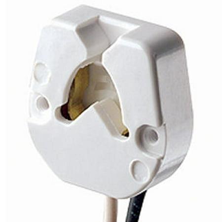 General 00395 - Medium Bi-Pin Butt On Screw Mount Fluorescent Lampholder #395 (FLUOR-END MED.BI-PIN  395)
