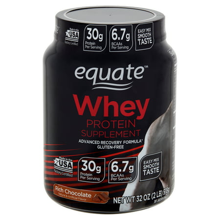 Equate Rich Chocolate Whey Protein Supplement 32 Oz