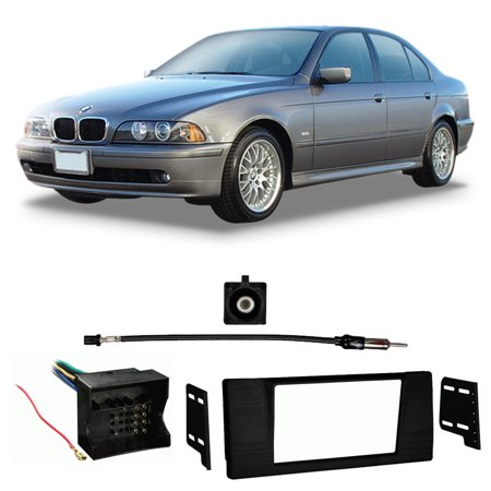 Fits BMW 5 Series 2002-2003 Double DIN Stereo Harness Radio Install Dash Kit