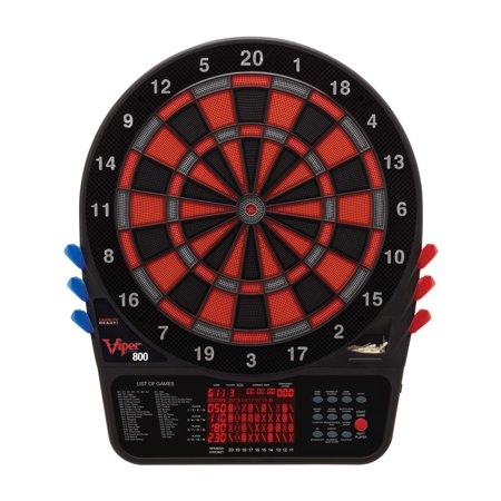 Viper 800 Electronic Dartboard Pro Size Over 55 Games Extended Auto-Score - Minnesota Cricket LCD Display with Impact-Tough Nylon Target for Lasting Durability Fewer Bounce Outs with Soft Tip