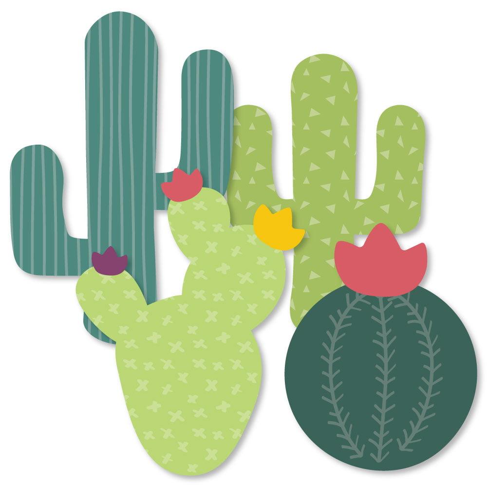 Prickly Cactus Party - Cactus Decorations DIY Fiesta Party Essentials - Set of 20