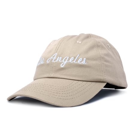 DALIX Los Angeles Baseball Cap Mens Womens Hats LA in Khaki - Walmart.com 692936eff35