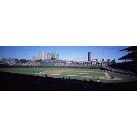Panoramic Images PPI60871L Baseball match in progress  Wrigley Field  Chicago  Cook County  Illinois  USA Poster Print by Panoramic Images - 36 x 12 - image 1 of 1