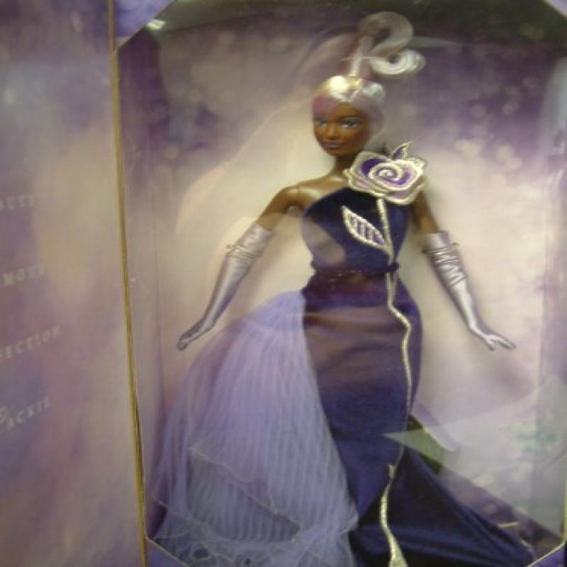 Bob Mackie Avon The Sterling Silver Rose Barbie Collectibles Doll African American by