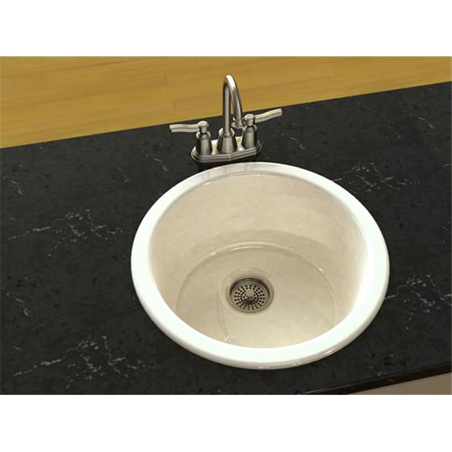 SONG S-8480-61 Bar and Entertainment Sink in Biscuit with 0 Faucet Holes