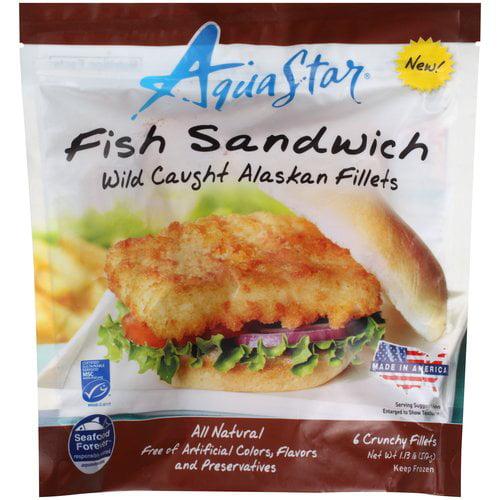 Aqua Star Wild Caught Alaskan Fish Sandwich Fillets, 6 count, 1.13 lb