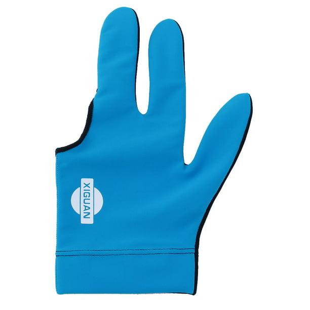 Fabric Snooker Billiard Cue Glove Pool Left Hand Three Tools Finger E8R9