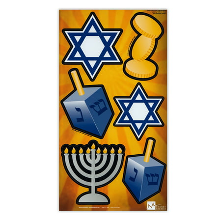 Magnet Variety Pack (6 Magnets) - Hanukkah (Menorah, Dreidel, Star of David) - Refrigerators, Cars, Mailboxes, Decoration - 2