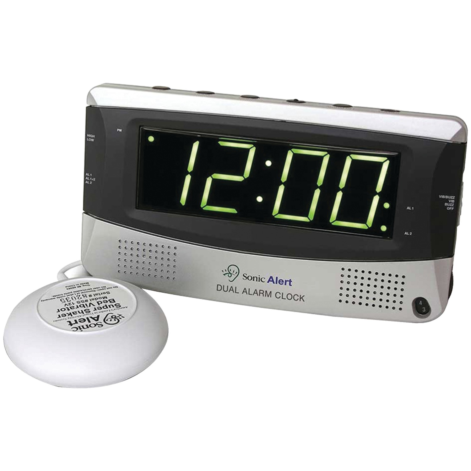 Sonic Alert SBD375SS Sonic Bomb Dual Alarm Clock with Super Shaker