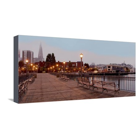 Broadway Pier Pano #113 Stretched Canvas Print Wall Art By Alan Blaustein