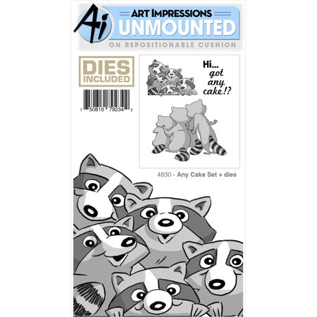 Art Impressions Front-N-Backs Stamp & Die Set-Any Cake - Impression Obsession Halloween Stamps