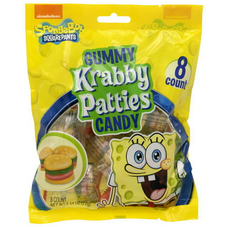 Gummy Krabby Patty ((Price/Case)Frankford Candy 10325 Krabby Patty Regular Bag 12-2.54)