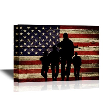 wall26 - Military Family Canvas Wall Art - Silhouette of ...