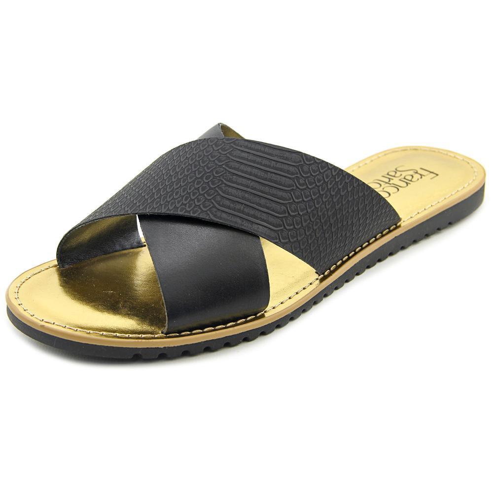 Franco Sarto Quentin Women Open Toe Leather Slides Sandal by Franco Sarto