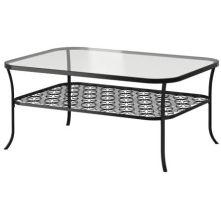 Ikea Coffee table, black, clear glass, 3826.82617.1412 ()