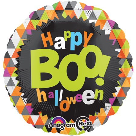 Anagram Boo Happy Halloween Colorful Triangles 18