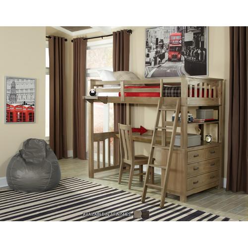 Greyleigh Bedlington Loft Bed With Desk