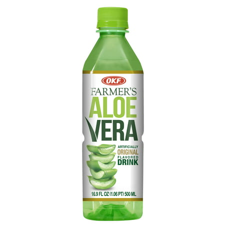 OKF Farmer's Aloe Vera Drink, Original, 16.9 Fluid Ounce (Pack of