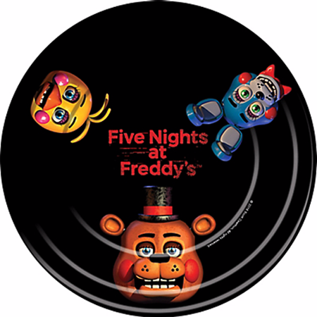 Five Nights at Freddy's Large Paper Plates (8ct)](Halloween At Freddy's Song Minecraft)