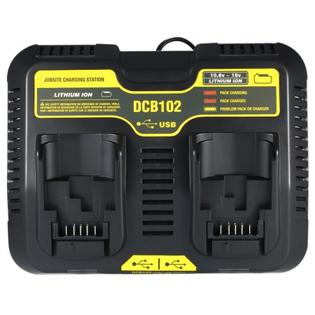DCB102 Replacement for DCB102 20-volt MAX Jobsite Charging Station Dual USB Ports Battery Tools - image 7 de 7