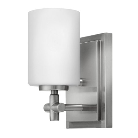 Hinkley Lighting 57550 1-Light Bathroom Bath Sconce with Frosted Glass Shade from the Laurel Collection Bath Sconce Oxford Collection