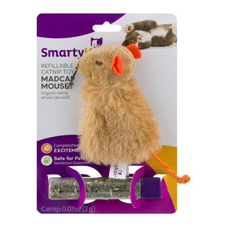 Smarty Kat  Certified Organic Catnip And Dispensing Tube Toy  1 Ct