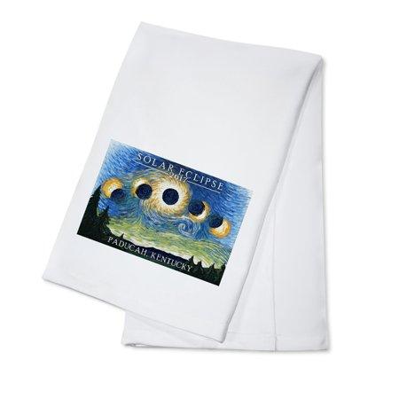 Paducah, Kentucky - Solar Eclipse 2017 - Starry Night - Lantern Press Artwork (100% Cotton Kitchen Towel)](Deep Dish Halloween 2017)