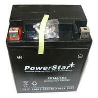 BatteryJack PM14AH-BS-02 YTX14AH - BS ATV Battery for Kawasaki 220cc KLF220 - A Bayou CN 1996