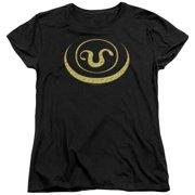 Stargate SG1 Goa'Uld Apothis Symbol Womens Short Sleeve Shirt