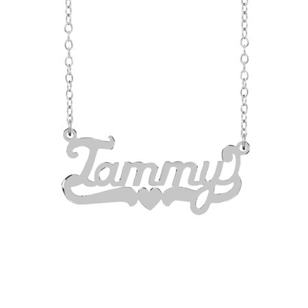 Sterling Silver Name Necklace - Personalized Sterling Silver or 14K Gold Plated