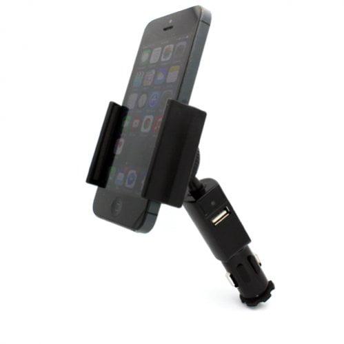 SELNA Compact Car Mount Charger Lighter Socket Holder Cradle Rapid Charging 2.1Amp USB Port for Verizon HTC One Remix _ Veriz