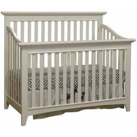 Sorelle Shaker 2-in-1 Convertible Crib White