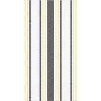 """Club Pack of 192 Yellow and Black 3-Ply Striped Rectangular Guest Towels 15.5"""""""
