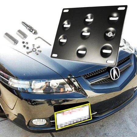 Xotic Tech 1 Set Front Tow Hook License Plate Bumper Mounting Bracket Relocator Holder Fit 2006-2008 Honda Fit Acura TL (Outer Front Bumper Bracket)