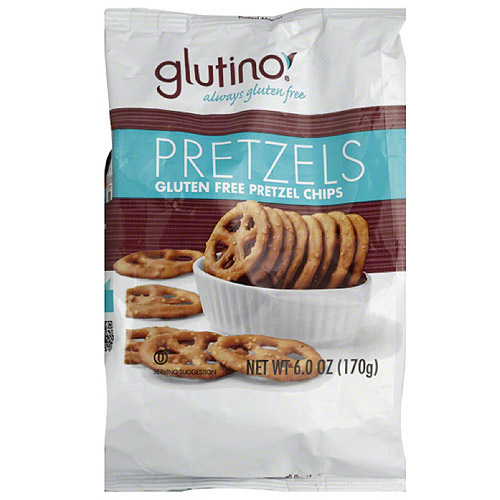 Glutino Gluten Free Pretzel Chips, 6 oz, (Pack of 6)