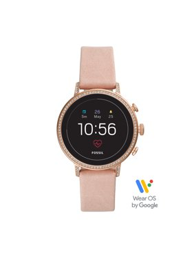 Fossil Gen 4 Venture HR Women's Smartwatch - Blush Leather - Powered with Wear OS by Google™