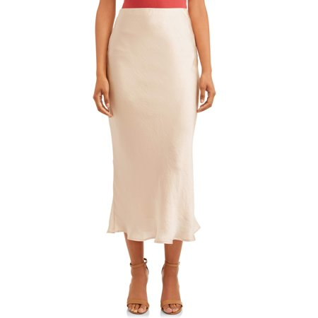 Women's Satin Maxi Skirt