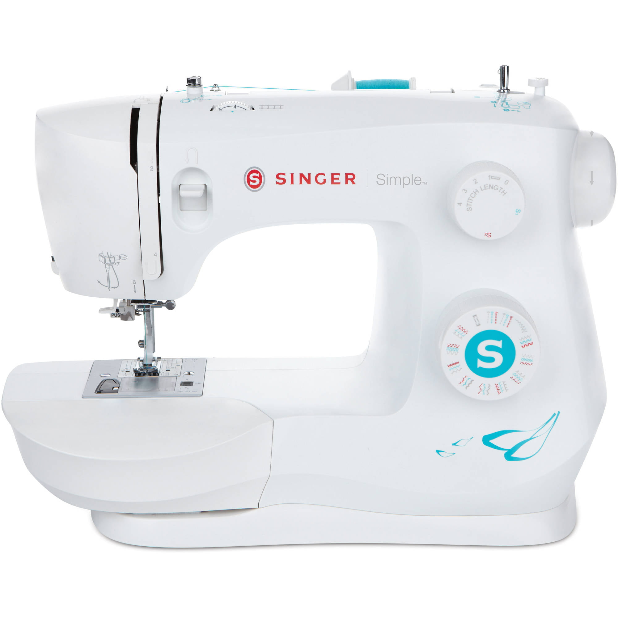 12 Stitches, 2 Speeds, Foot Pedal, LED Sewing Lamp Small Household Electric Overlock Sewing Machines CL-033-D Chooling Sewing Machine
