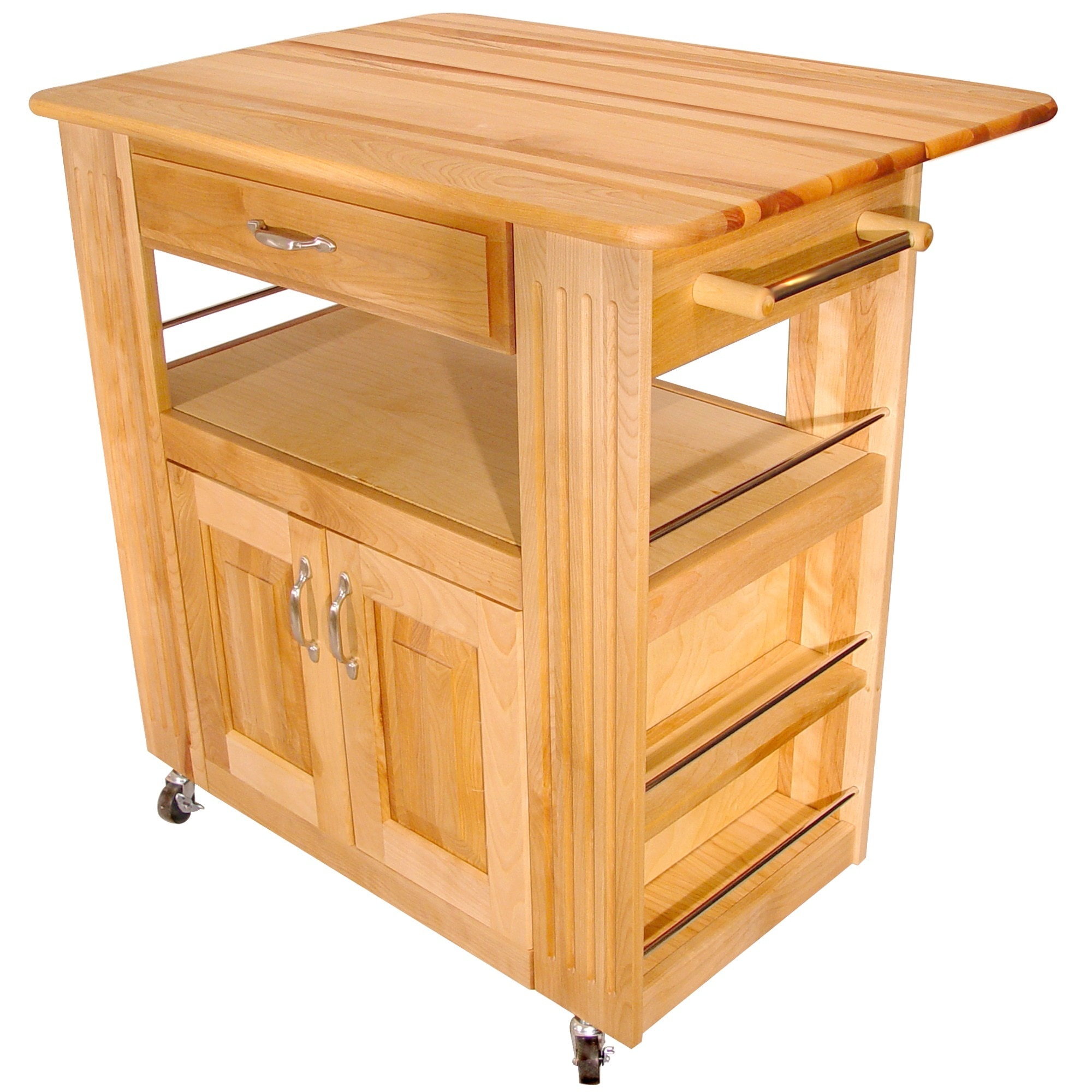 Catskill Craftsman Heart-of-the-Kitchen Island with Drop Leaf
