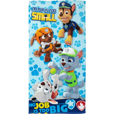- PAW Patrol Kids Bath Towel, 25in x 50in, 100% Cotton, 1 Each