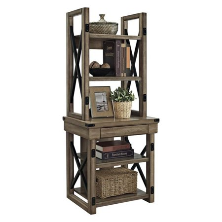 Altra Furniture Wildwood Decorative Bookshelf   Rustic Gray