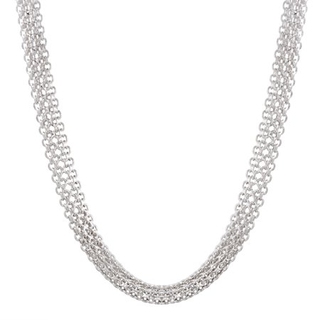 Women's 17 Mesh Chain Necklace in Sterling Silver Sterling Silver 17 Fashion