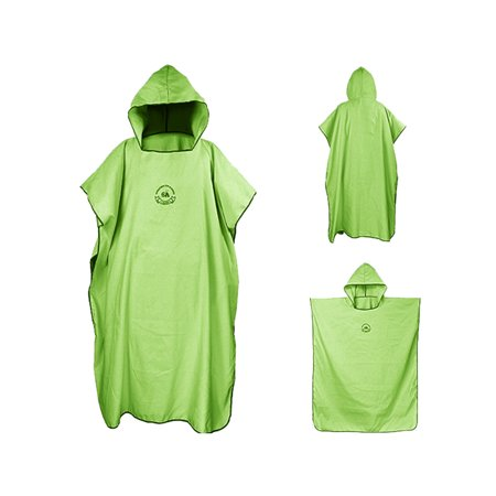 One Size Beach Bath Microfiber Surf Poncho Robe With Hood Wetsuit Changing Towel,Compact & Quick Dry Beach Sunscreen Cloak (Womens Diving Hood)
