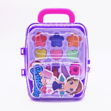 Pretend Play Cosmetic and Makeup Toy Set Kit for Little Girls & Kids