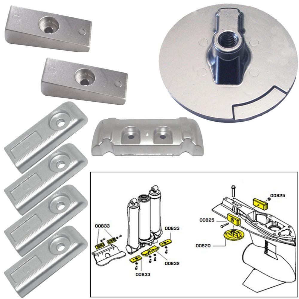 Tecnoseal Anode Kit Verado 6 W/ Hardware Zinc Polybag