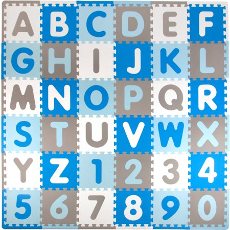 Tadpoles ABC Foam Play Mat Set, 36 Pieces